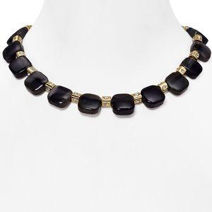 Kate Spade Color Block Necklace Black
